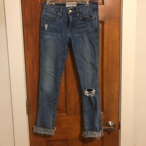 Lucky Brand Charlotte Rail cropped jeans